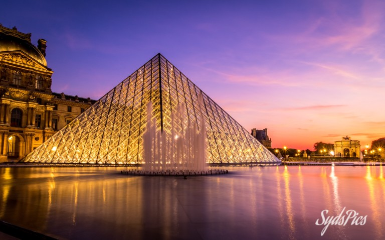 An evening at Louvre - Paris, France