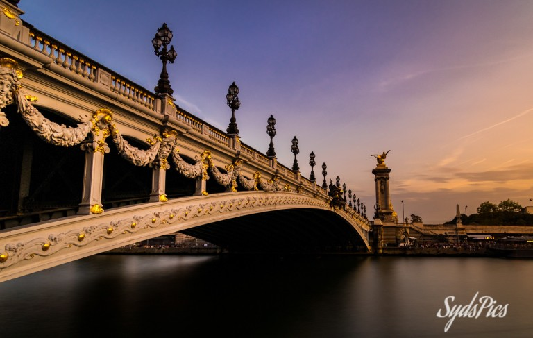 Pont Alexandre III at Sunset, Paris, France